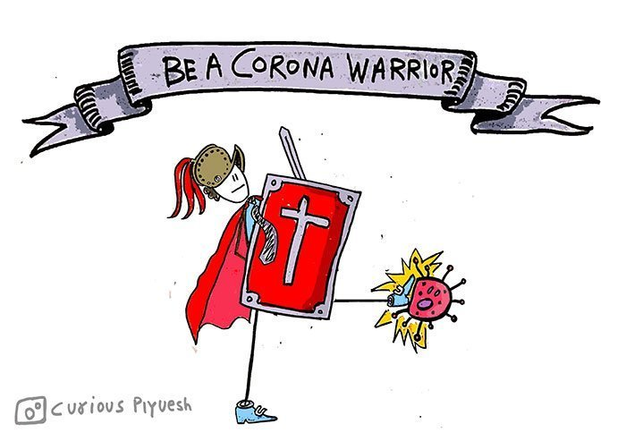 Precautions-against-corona-virus-Poster-and-Doodles-by-Curious-Piyuesh