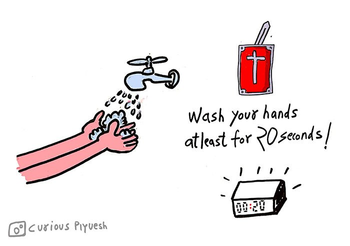 Wash-your-hands-to-avoid-corona-virus-Poster-and-Doodles-by-Curious-Piyuesh